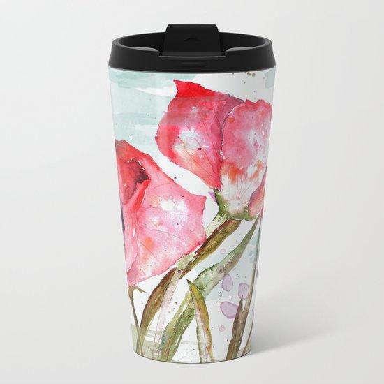 Poppies 05 Metal Travel Mug