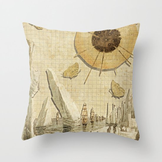 paper I :: butterflies/icebergs Throw Pillow