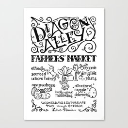 Diagon Alley Farmers' Market Canvas Print