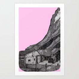 glitch house Art Print