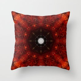 Festive Window Mandala Abstract Design Throw Pillow
