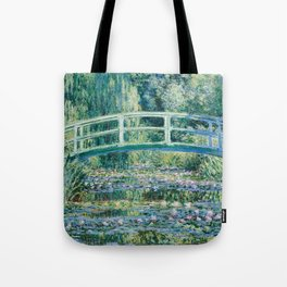 1899-Claude Monet-Water Lilies and Japanese Bridge Tote Bag