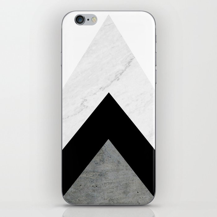 Arrows Monochrome Collage iPhone Skin