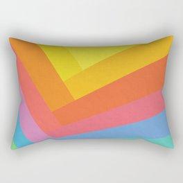 Abstract Rainbow Rectangular Pillow