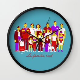 LA FAMILIA REAL Wall Clock