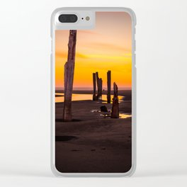 Pacific Beach Sunset Clear iPhone Case