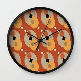 RETRO ORANGE Wall Clock
