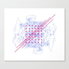 Fungus, Dots and Lines Canvas Print