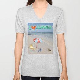 I love Summer Unisex V-Neck