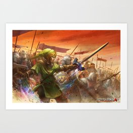Legendary Battle  Art Print