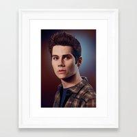stiles stilinski Framed Art Prints featuring Stiles Stilinski / Dylan O'Brien by theconsy