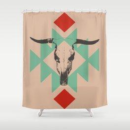 Southwest long horn Shower Curtain