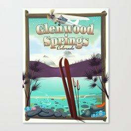 Glenwood Springs Colorado Ski poster Canvas Print