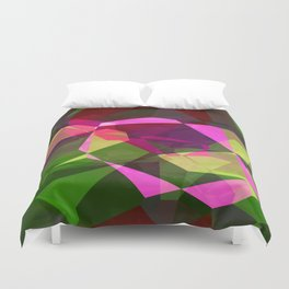 Rosas Moradas 1 Abstract Polygons 2 Duvet Cover
