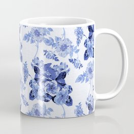 Blue Botanical Toile Coffee Mug