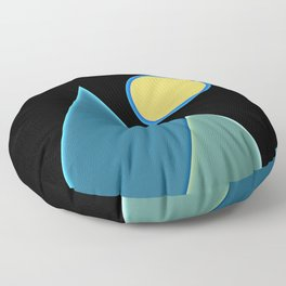 Sun, wind and mountains  Floor Pillow