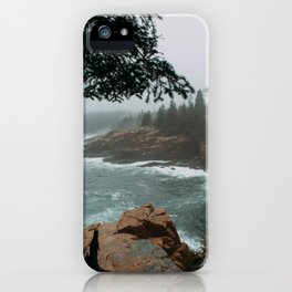 Foggy Morning in Acadia National Park iPhone Case