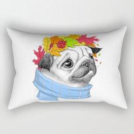 Autumn pug #2 Rectangular Pillow