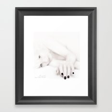 Out of the White Framed Art Print