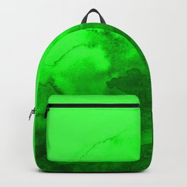 Green abstract artwork Backpack