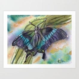 Butterfly Bamboo Art Print