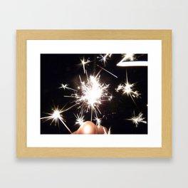 Sparkling Sparklers Framed Art Print
