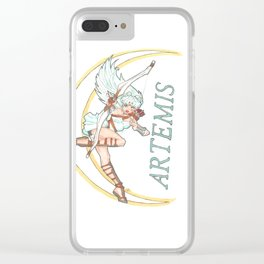 Greek Goddess; Artemis Clear iPhone Case