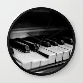 Old Piano Wall Clock