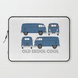 old skool cool – vintage commercial panel van in Dove Blue Laptop Sleeve