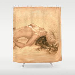 nude dreams of passion Shower Curtain