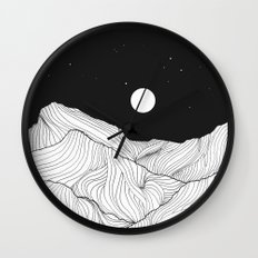Lines in the mountains II Wall Clock