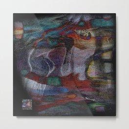 Female tapestry Metal Print