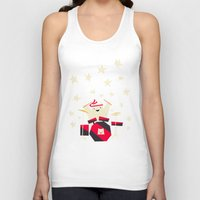 drums Tank Tops featuring hit the drums!  by Yetiland
