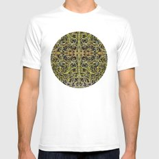 A Tangle of Vines White Mens Fitted Tee MEDIUM