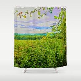 Parbold Hill (Digital Art) Shower Curtain