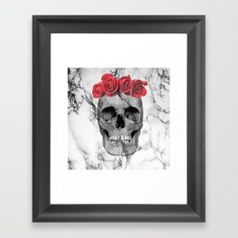 Skull Rose Framed Art Print