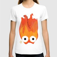 calcifer T-shirts featuring Calcifer's Curse by HSuits