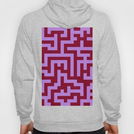 Lavender Violet and Burgundy Red Labyrinth Hoody