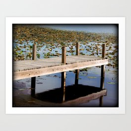 Lake Pier Reflections Art Print
