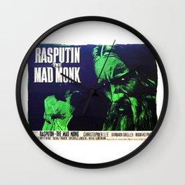 Rasputin, The Mad Monk, vintage horror movie poster Wall Clock