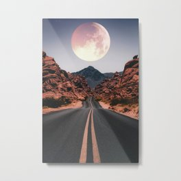 Mooned Metal Print
