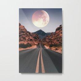 Mooned Metal Print