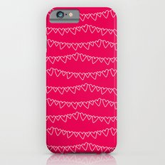 Red & White Heart Garland iPhone 6 Slim Case
