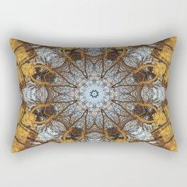 Golden stone, blue sky and arching branches kaleidoscope Rectangular Pillow