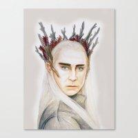 thranduil Canvas Prints featuring Thranduil by Olivia Nicholls-Bates