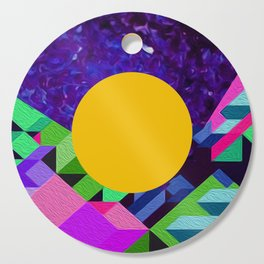 Geometric Minimal Amethyst Cutting Board