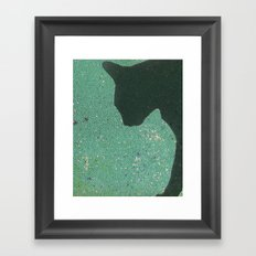 Kitty Mosaic Framed Art Print
