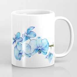 Blue Orchids Two - Watercolor Coffee Mug