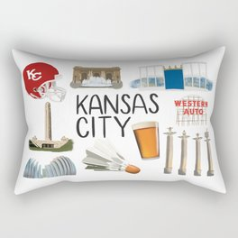 Kansas City, Missouri Rectangular Pillow