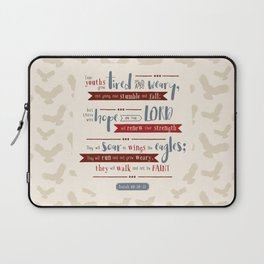 """Hope in the Lord"" Hand-Lettered Bible Verse Laptop Sleeve"